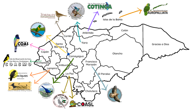 Mapa Clubes ASHO